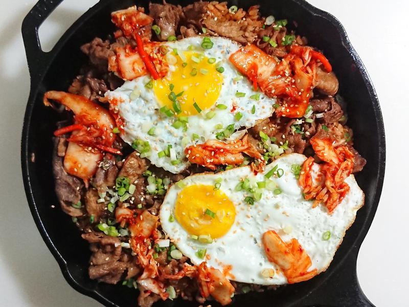 韓式泡菜燒肉鍋巴飯