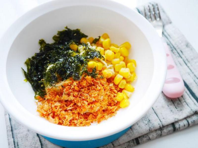 穗穗康健寶寶番茄麵-魚鬆玉米海苔麵