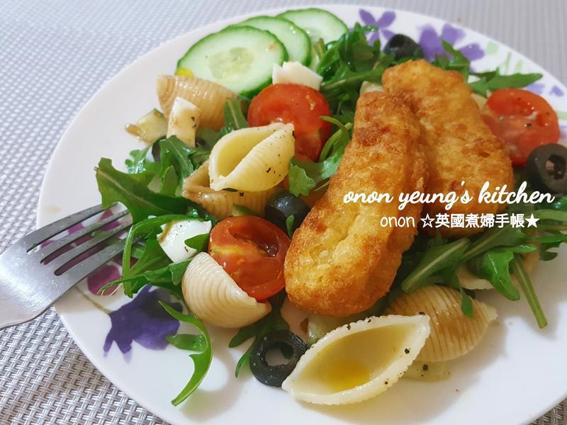低卡野菜☘️貝殼麵沙拉 Go~~健康享瘦