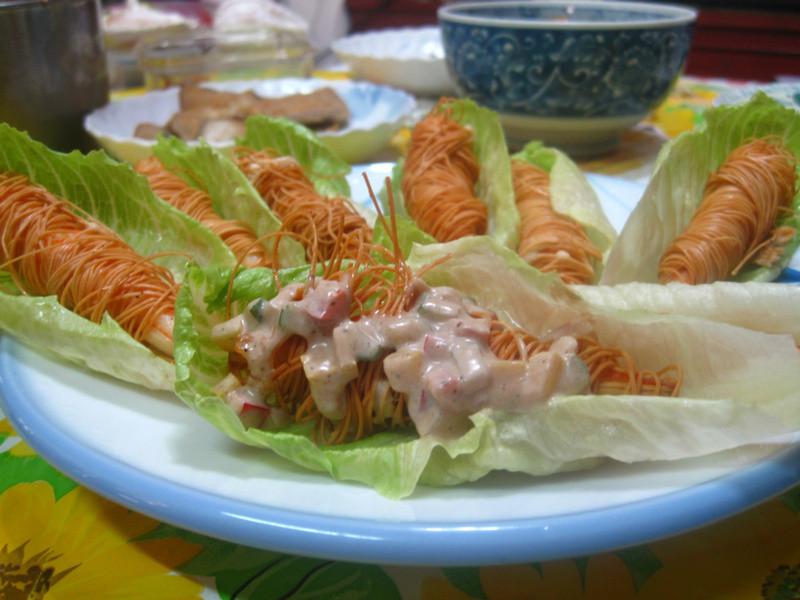 梅風蠶絲蝦捲