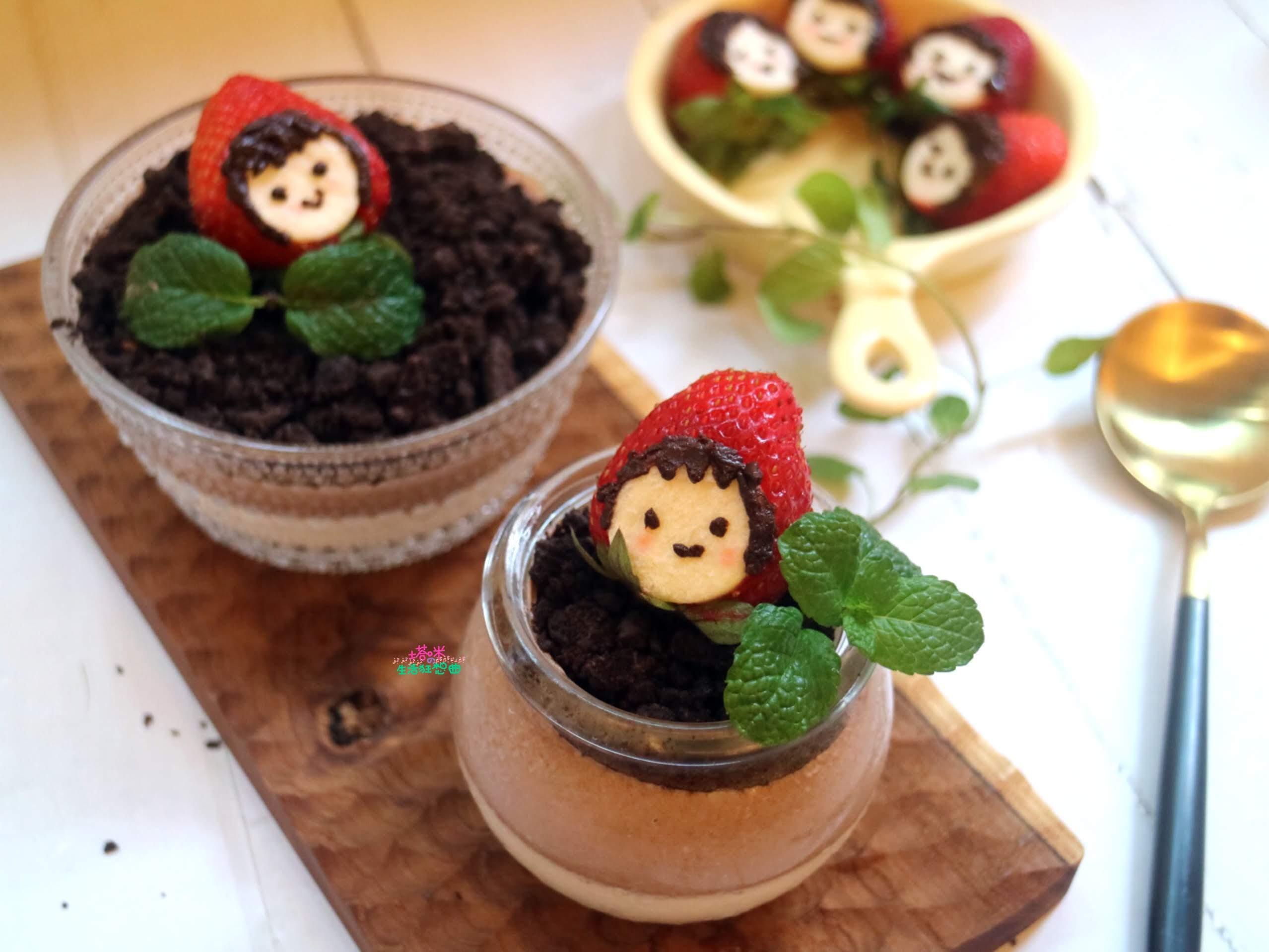 草莓小紅帽之盆栽奶酪
