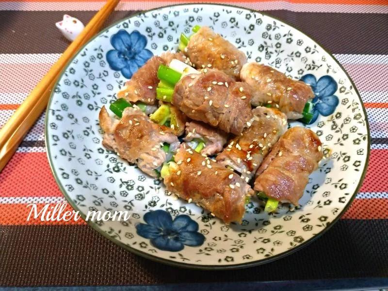 香煎青蔥豬肉捲