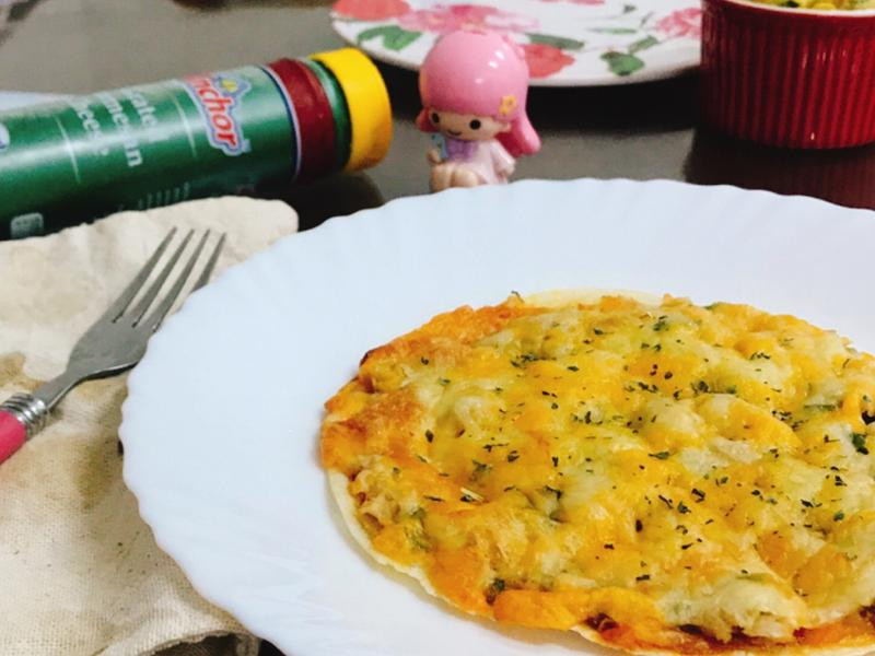 水餃餡披薩