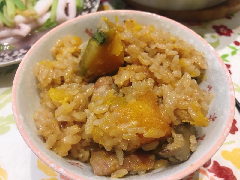 南瓜豬肉燉飯(電子鍋版)