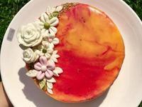 南瓜乳酪鏡面蛋糕 (紅龍果)