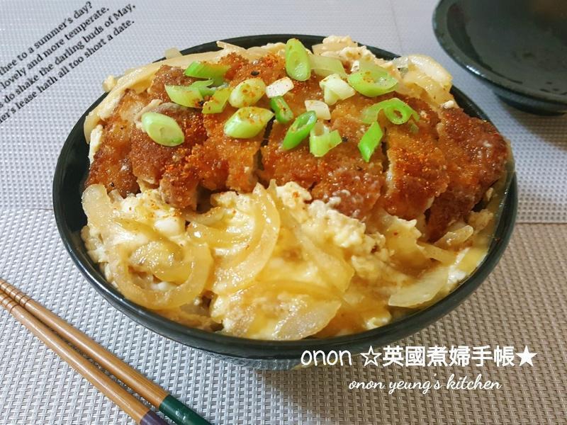 日式炸豬排丼 配嫩滑的蛋🥚營養滿分
