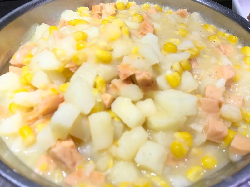 👩🏻🍳馬鈴薯炒熱狗玉米(奶油板)