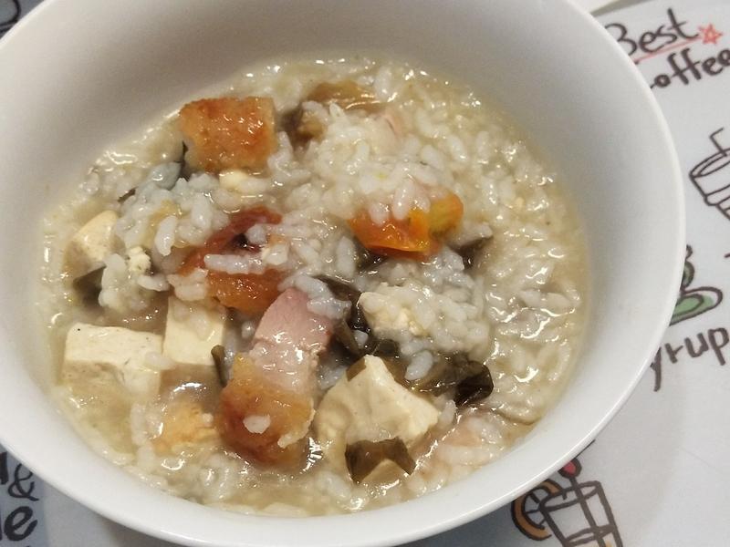 咸菜烧肉粥 (气压锅)