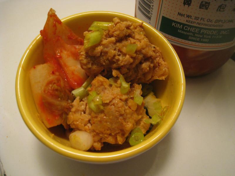 [速成好料]泡菜肉丸