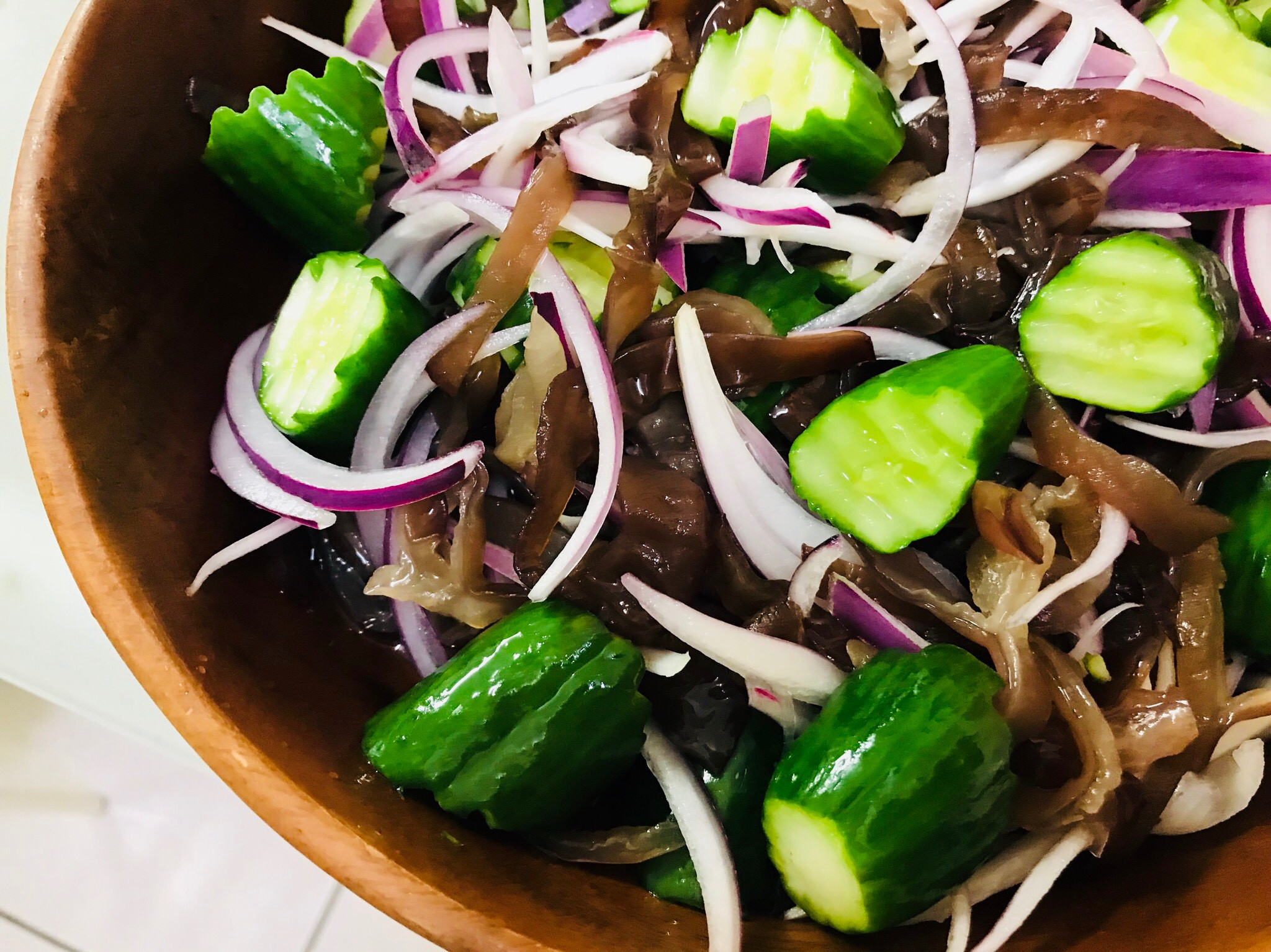 涼拌菜:小黃瓜匯黑木耳紫洋蔥