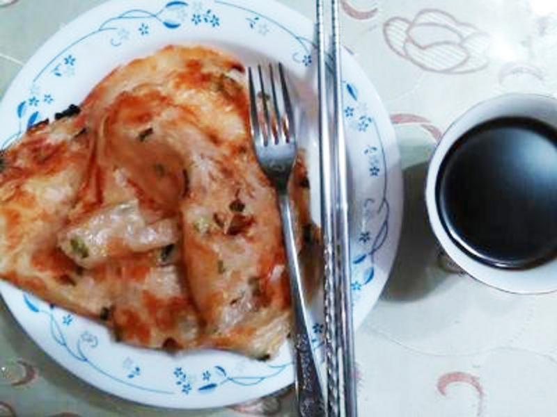 快樂早餐蔥抓餅
