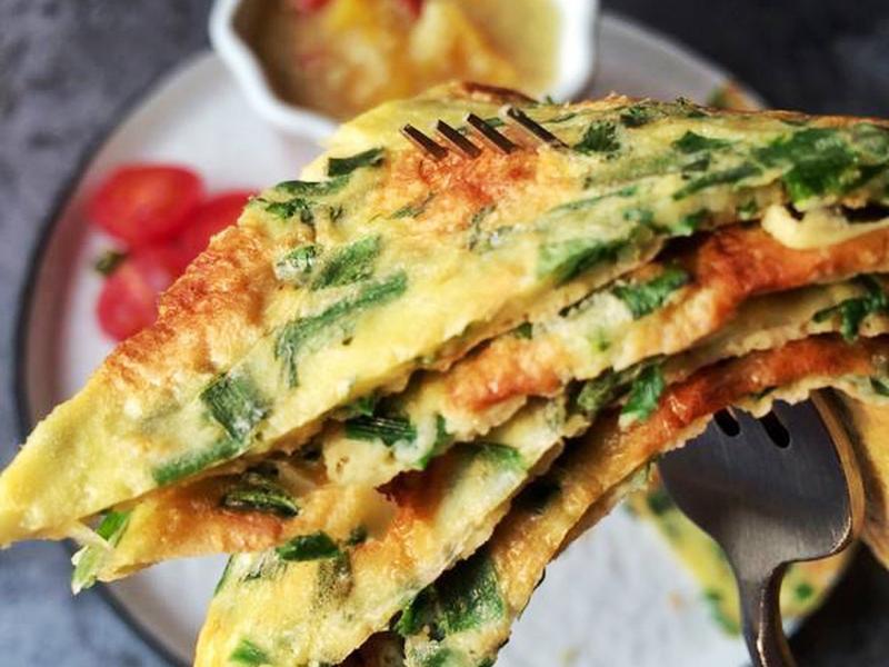 苦荞韭菜饼,与青团不同的美味