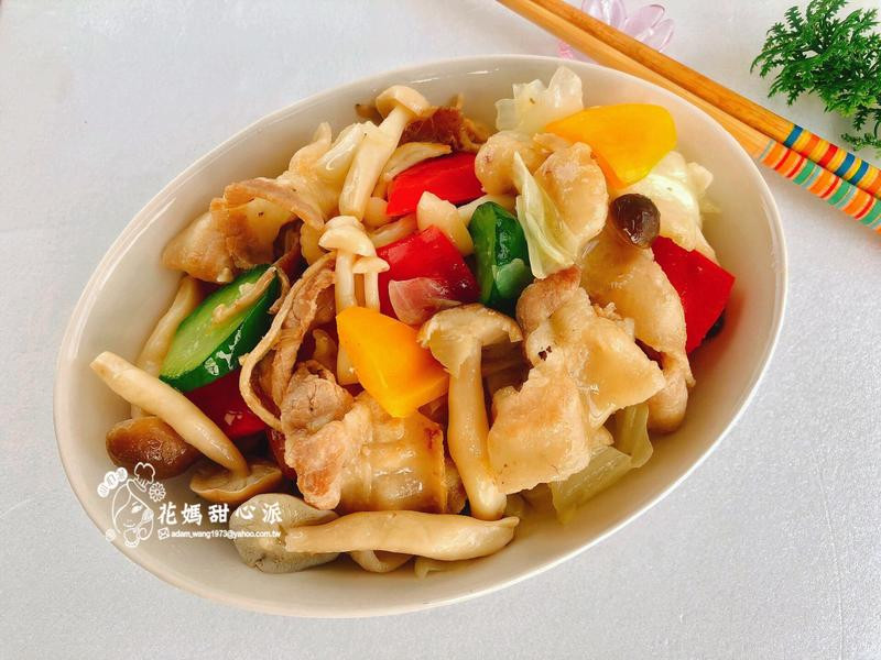 彩蔬五花(10分鐘快速家常菜)