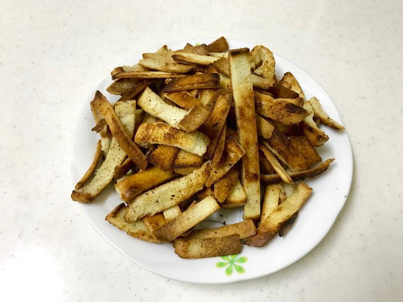 健康版-免烤箱-❤️橄欖油鹽烤吐司條❤️