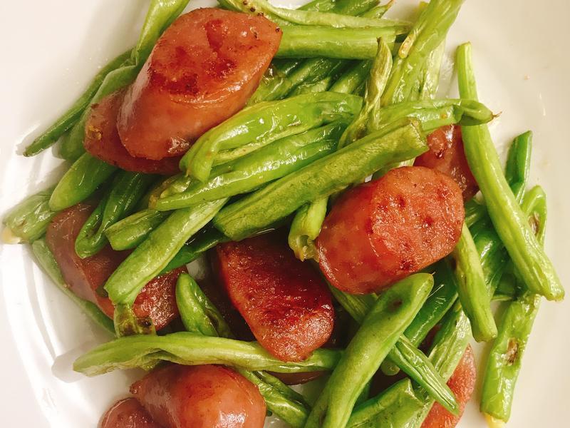 お弁当-190402-香腸四季豆