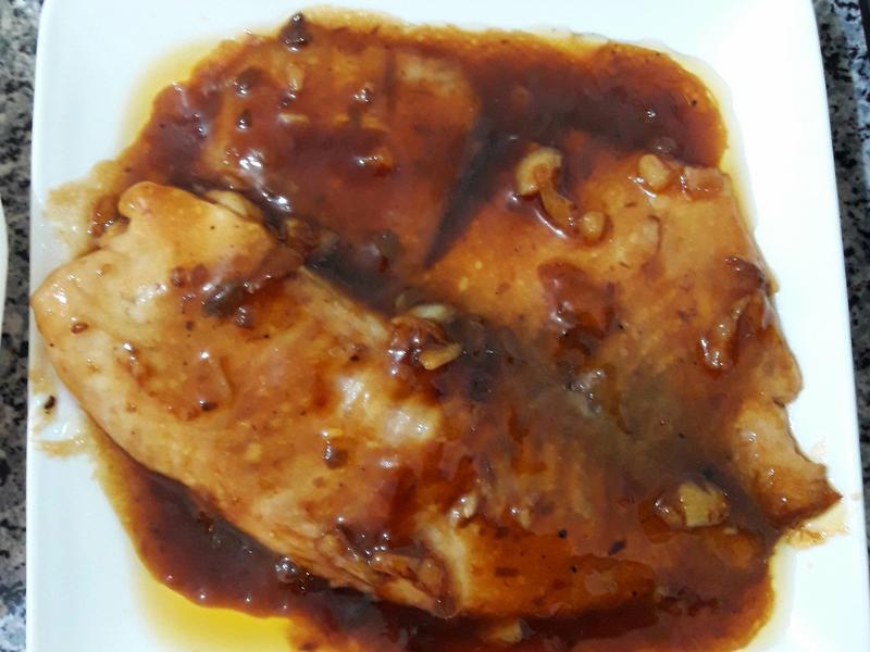 蘑菇醬燒鯛魚