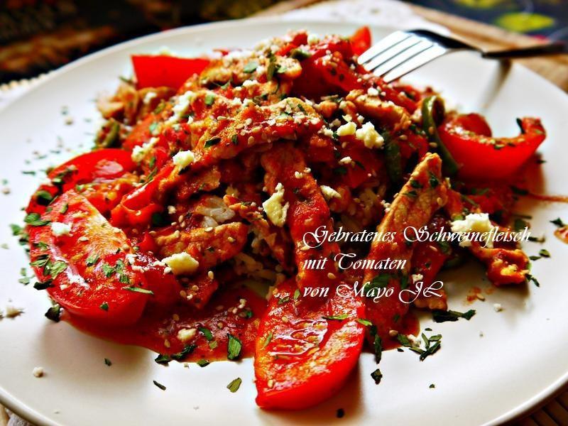 蕃茄炒肉絲