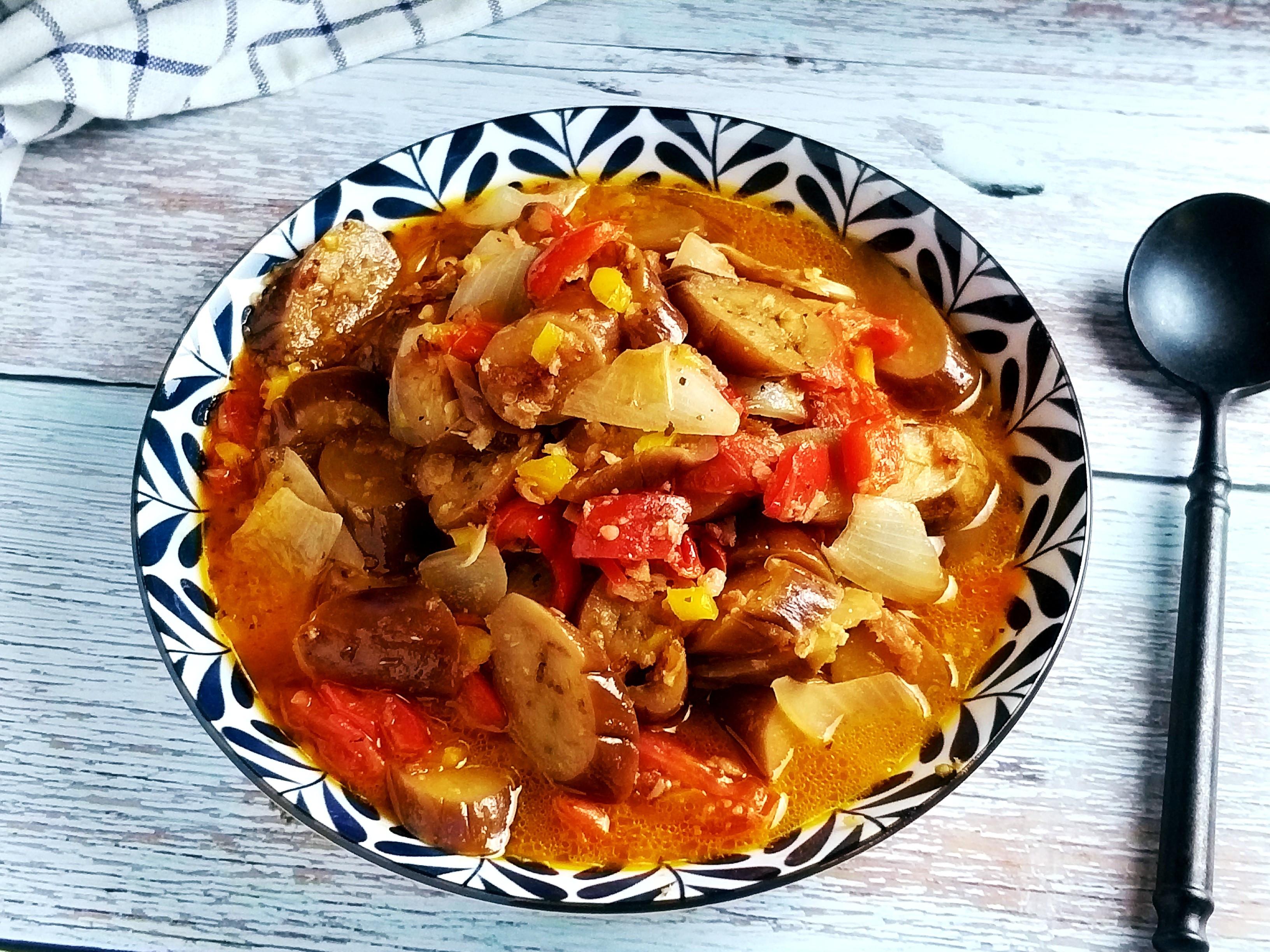 西西里茄子燉菜~番茄彩椒洋蔥燉菜