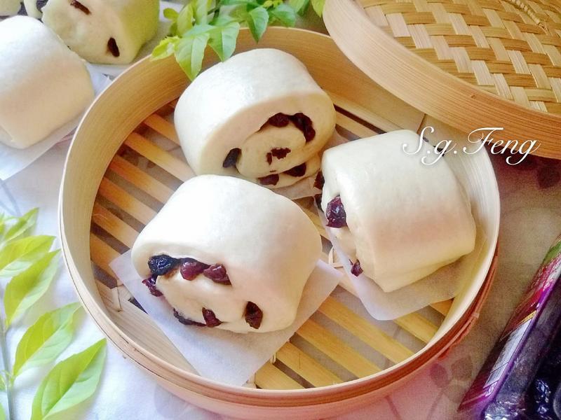 果乾牛奶饅頭(葡萄乾&蔓越莓)