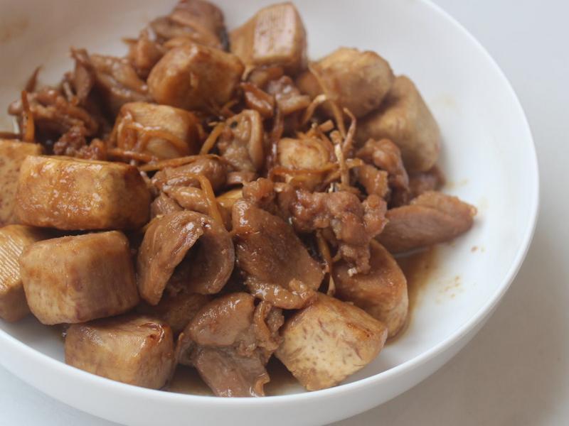 芋頭鴨肉時雨煮