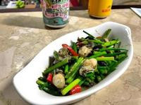 韭菜花牡蠣。🙆🏼♂️最愛