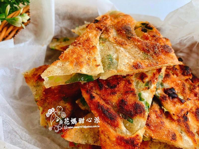 香酥蔥油餅(溫水麵糰法)