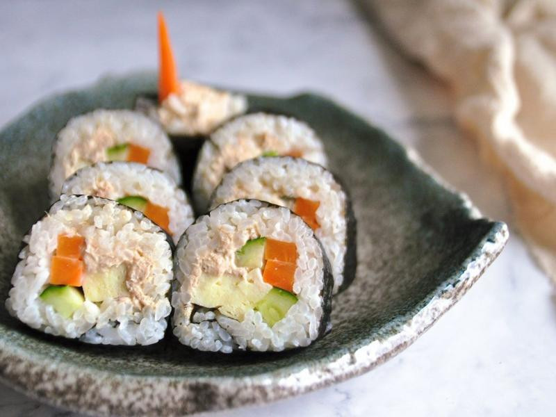 鮭魚壽司捲(含捲法步驟)