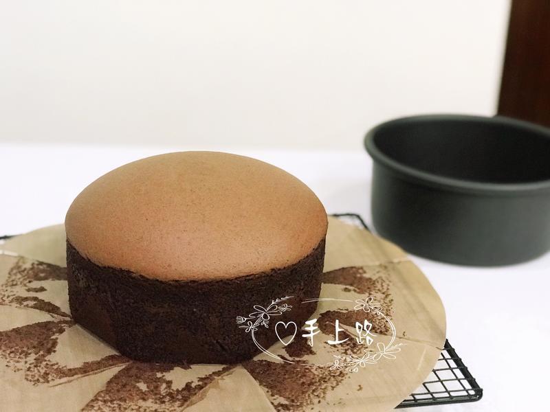 生巧克力棉花蛋糕 無鹽奶油版 6吋蒸烤法