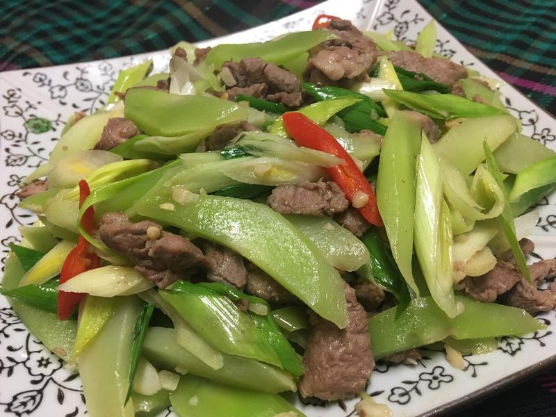 快炒肉絲窩筍(A菜心)