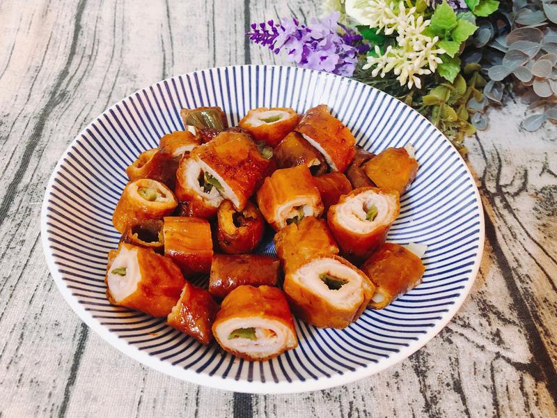 氣炸鍋料理-氣炸肥腸(下酒菜)