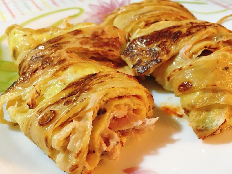 鮪魚起司豆皮蛋餅(減醣食譜)