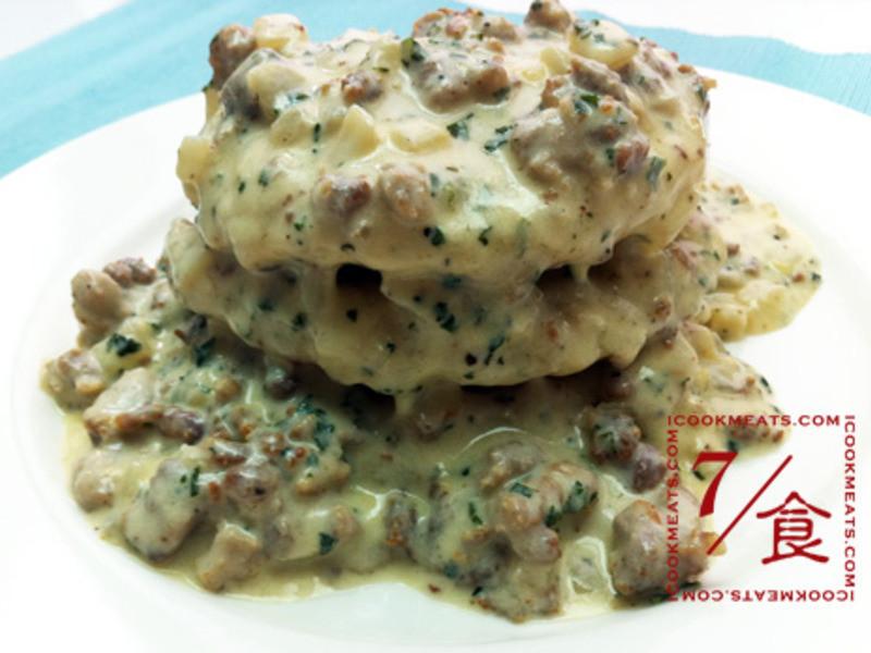 【7/食】馬鈴薯鬆餅與牛奶肉醬