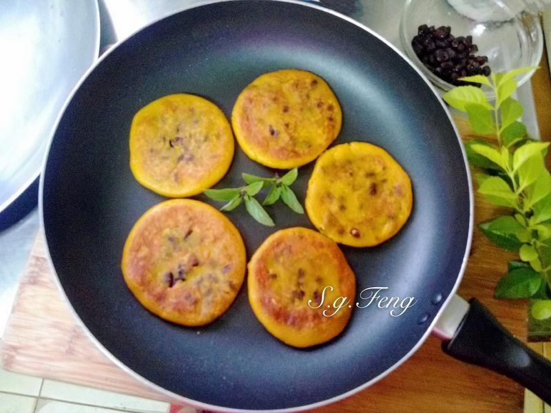 南瓜紅豆Q餅