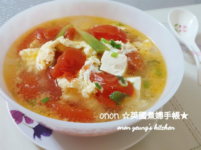蕃茄豆腐蛋花湯 簡易🍅家常菜