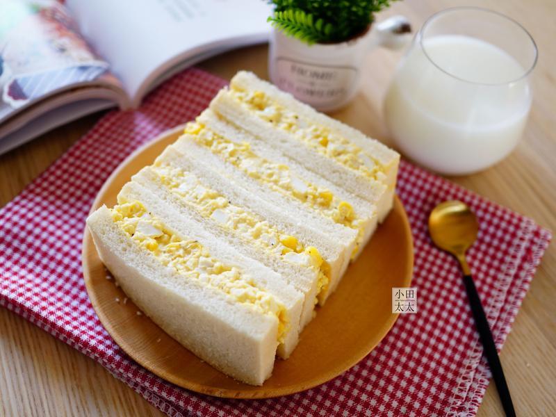 玉米蛋沙拉三明治~ 免開火電鍋一鍵搞定!