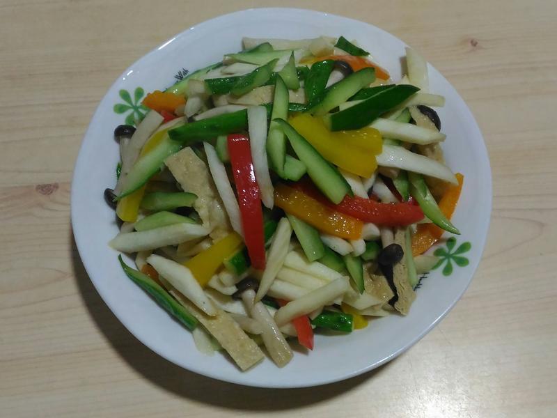 瓜椒清炒筊白筍