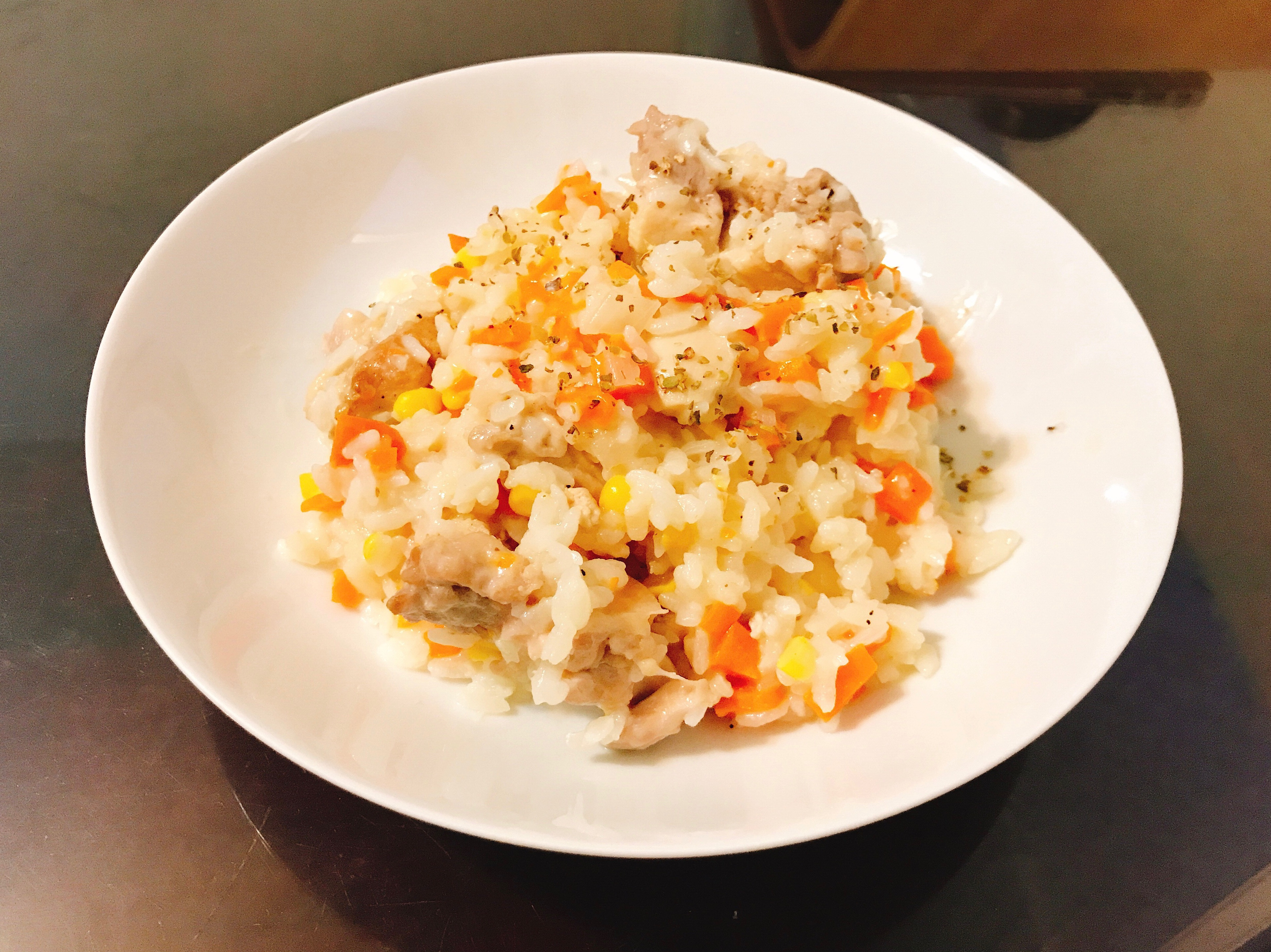 日式蘿蔔玉米雞燉飯(滿滿的營養)