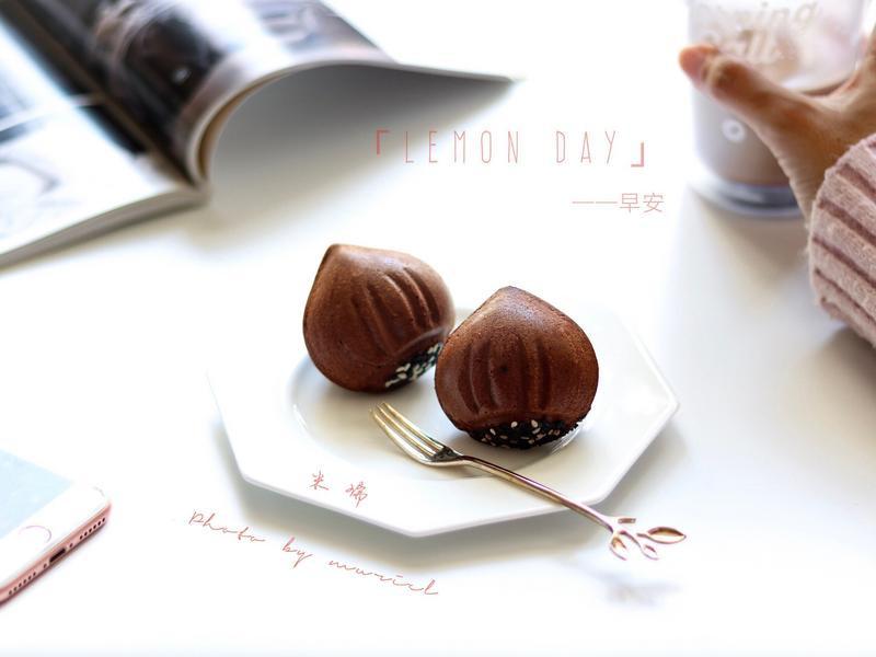 巧克力爆浆栗子蛋糕
