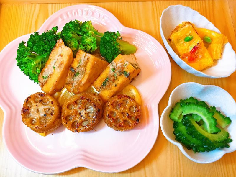 蓮藕肉餅油豆腐香菜肉餅(低醣)