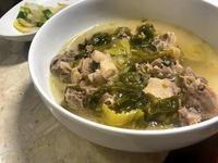 酸菜鴨湯。電鍋菜