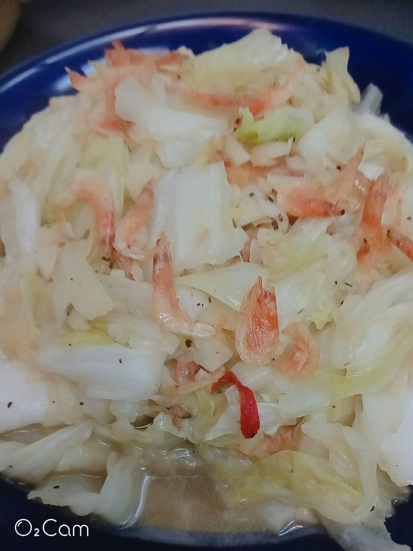 ~櫻花蝦炒高麗菜~