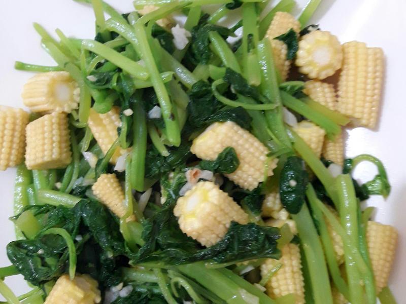 莧菜炒玉米筍