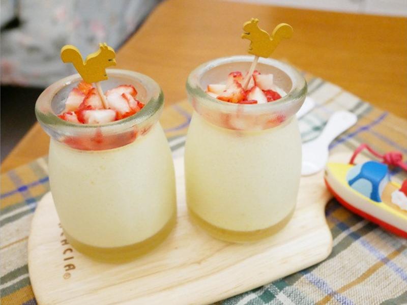 少糖版「楓糖布丁」適合小小孩享用 ♪