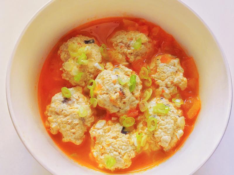 低脂番茄雞肉丸