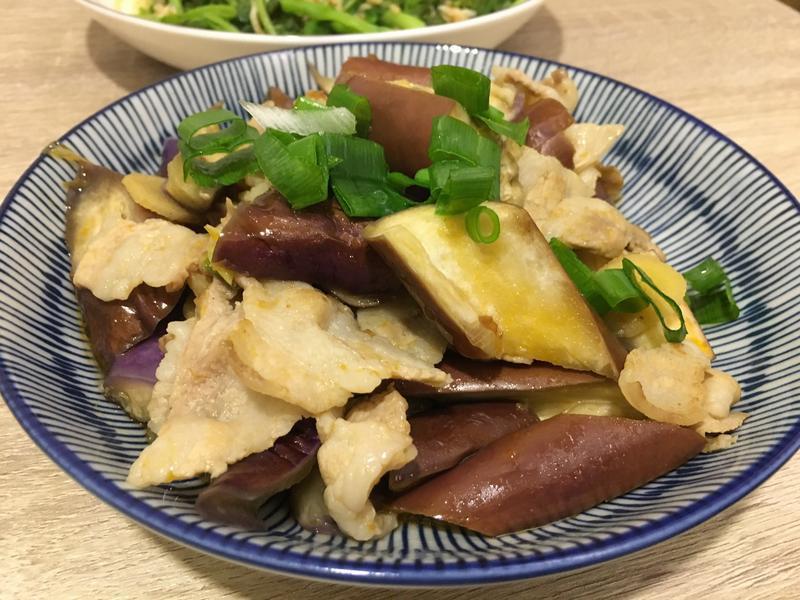 魚香茄子炒五花肉