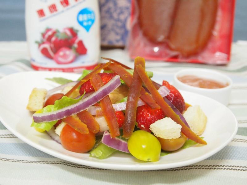 《草莓就愛鷹牌煉奶》烏魚子煉奶沙拉