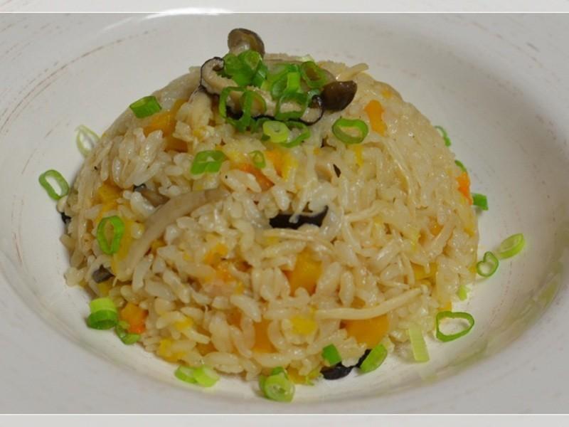 [四季江戶味之秋季料理]-南瓜菇蕈炊飯