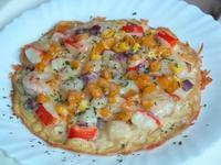 超簡單平底鍋🍳南瓜海鮮披薩[寶寶食譜]