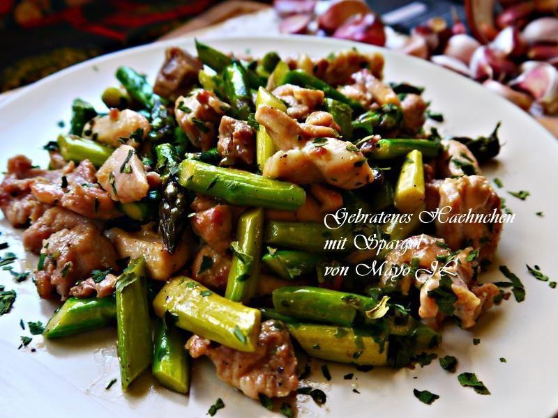 蘆筍炒雞肉