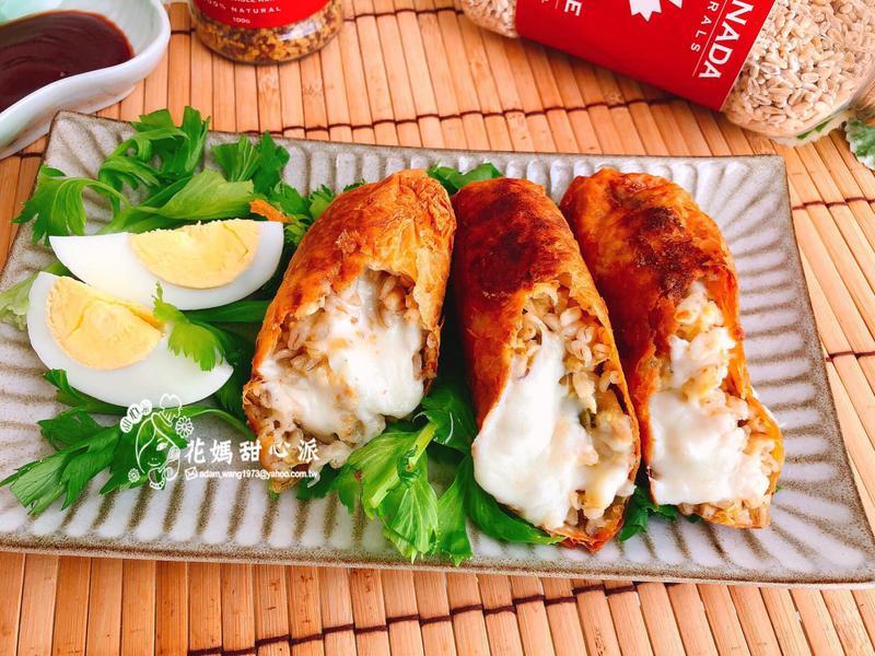 鮪魚起士燕米腐皮捲(創意料理)